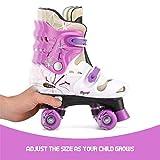 Osprey Patines infantiles de 4 ruedas en paralelo. Patines quad para niños y niñas principiantes. Ajustables, estables,