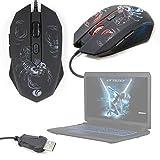DURAGADGET Gaming Mouse con LED Colorati per Computer Medion Erazer X7853 - MD 60709, HP Notebook 15-da0161ns, Lenovo ideapad 330-15ARR – Design Scorpione – Connessione USB