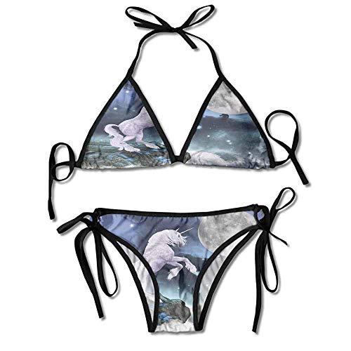 VVIANS Custom Pattern Island Hopper Crossback Tri Bikini Top Swim Suit for Women
