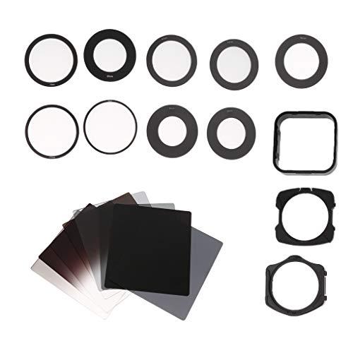 D DOLITY Quadrat Objektiv Filterset ND Filter Verlaufsfilter Set mit Gegenlichtblende, Ring-Adapter, Filterhalter und Filtertasche für DSLR Kameras