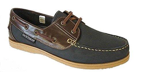 Seemann Yachtsman Leder Bootsdeck Schuhe Größen 7-12 (9 UK, Marine)