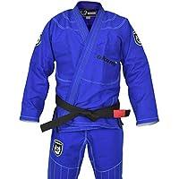 OKAMI Fightgear BJJ Gi Shield Blau - Limited Edition - Herren Männer BJJ Gi Kimono Jiu Jitsu Anzug für Erwachsene