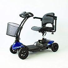 Mobiclinic Scooter eléctrico | 4 Ruedas | con Asiento | Minusválido | Compacta y Desmontable |