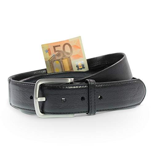 Safekeepers Geld Gürtel mit Geheimfach - Moneybelt Leder - Geldgürtel Herren - Geldgürtel Damen - Gürtel mit reißverschluss - Für Männer Geld-gürtel