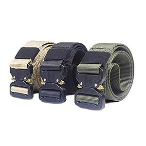 CHOUBAGUAI Taktischer Gürtel Hochleistungsjagd-Militärgürtel Nylon-Taillengürtel Mit Metallschnalle Einstellbarer Taillengürtel Trainingszubehör Gürtel