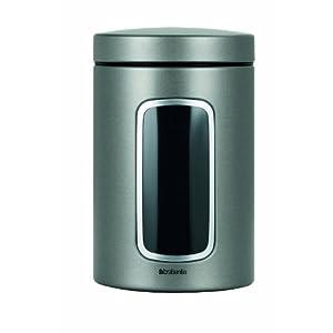 Brabantia Window Canister, 1.4 L - Platinum