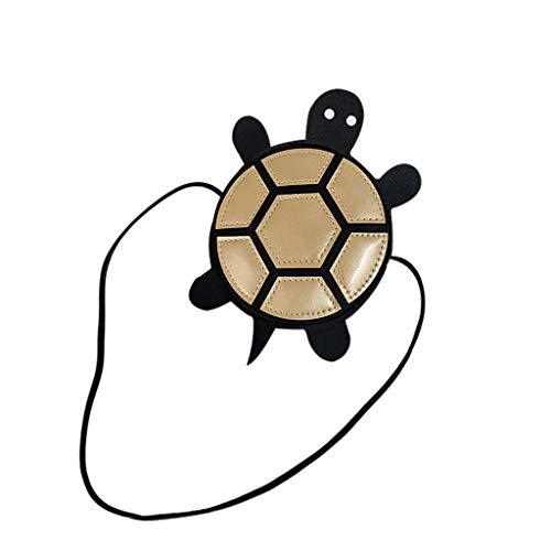 Dorical Geldbörse für Kinder Kleinkinder Süße Schildkröte Mädchen Umhängetasche Handtasche, Prinzessin Mini Taschen, Cross Body Messenger Bag, für 1-5 Jährige im Kindergarten(Gold)