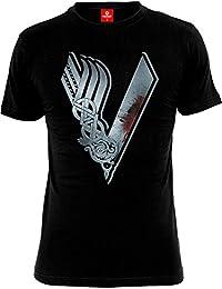 T-shirt Vikings avec logo de la série S-XXL noir