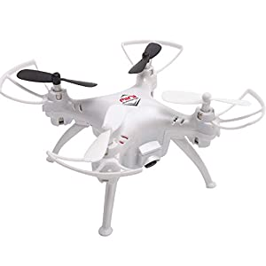 Megadream TK106 3.7V 220mAh Outdoor&Indoor Quadcopter With 2MP 720P FPV Real-Time Aerial Camera 2.4G 6-Axis Headless Mode RC Helicopter Drone for Pictures and Video, Support 360 Degree Eversion 3D Rock Roll Spin, 2.4Ghz Radio Remote Control - Easy to Fly