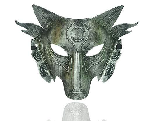 POAO Green Halloween Maske Horror Tier Maske Böser Wolf Wolf Wolf Kopfbedeckung Erwachsener Werwolf Wolf Kopf Kind Eins (Werwolf-maske Kinder Für)