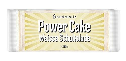 Foodtastic Power Cakes Weisse Schokolade Box (30 x 120 g) | leckere und saftige Haferriegel | Handgemachte Flapjack Energieriegel auf Haferflocken Basis (Box Aus Weißer Schokolade)
