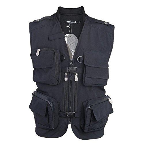 Zicac- multi poches Gilet sans manches de pêche veste...