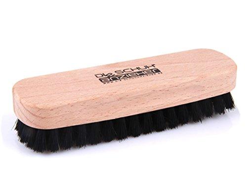 Buchenholz Schuhbürste mit Naturborsten – für die Reinigung oder Politur z2345(dunkel)