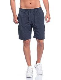37c58668408ded Herren Shorts Freemen Bermuda Cargo Capri Kurze Hose Vintage Short Casual  (L, Blau)