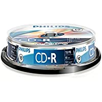 Philips CD-R CR7D5NB10/00 - CD-RW vírgenes (CD-R, 700 MB, 10 pieza(s), 80 min)