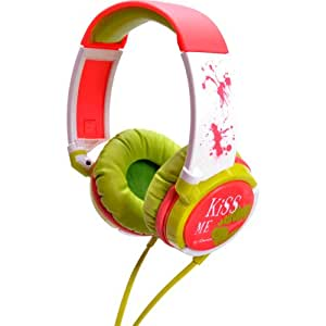 iDance Casque audio Kiss Me 100 (Vert/blanc/rose)