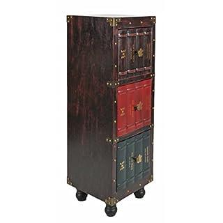 ts-ideen Kommode Bücherregal Schrank Vintage Antik Buch Design Standregal British Style