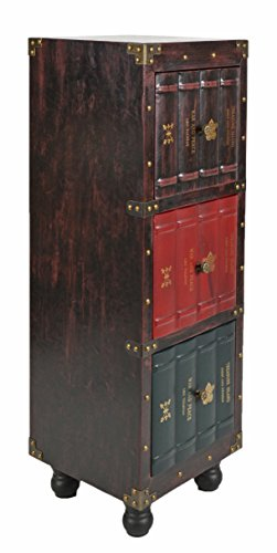 ts-ideen Kommode Bücherregal Schrank Vintage Antik Buch Design Standregal British Style (Leder Schwarz Bücherregal)
