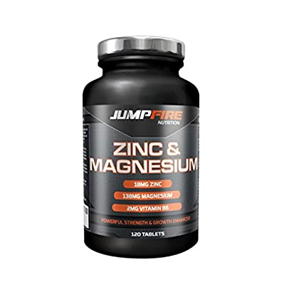 Jumpfire Nutrition ZMA Tablets - Zinc Magnesium Vitamin B6 - for Muscle Strength & Recovery ? Metabolism & Testosterone Booster ? Sleep Management and Recovery ? Supports Protein Synthesis from Jumpfire Nutrition