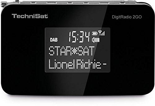 TechniSat DIGITRADIO 2GO / Digital-Radio mit Lautsprecher (klein, tragbar, für Outdoor geeignet) , DAB+, UKW, Favoritenspeicher, Akku, schwarz