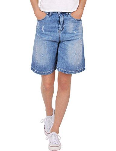 Fraternel Shorts donna jeans pantaloncini denim azzuro chiaro taglia: IT 40 - S