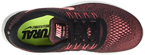 Nike Free Run, Chaussures de Running Compétition Femme Multicolore (Black / Lava Glow / Off White)