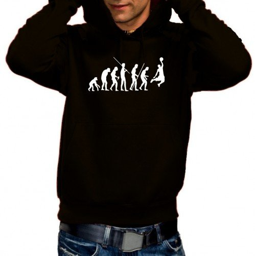 Coole-Fun-T-Shirts Sweatshirt BASKETBALL - Evolution ! HOODIE, schwarz, L, 10690_SCHWARZ-HOO_GR.L
