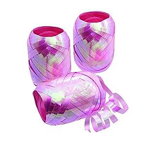 Forum Novelties SK98025 - Cinta para rizar huevos, color rosa iridiscente, 3 unidades