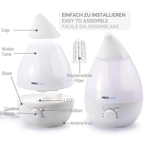 InnoBeta® 2,4 Liter Ultraschall-Luftbefeuchter Cool Mist - 4