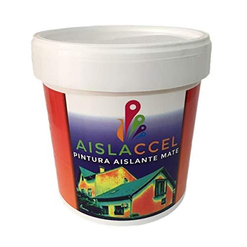 AISLACCEL, Pintura, pintura pared, pintura pared interior, mejor pintura aislante, pintura blanca, pintura exterior, pintura antihumedad, pintura térmica, AISLACCEL 4 y 14 lt (4 Lt)