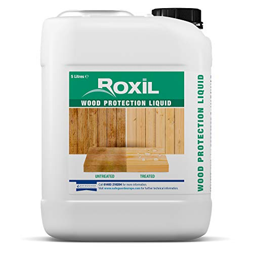 Roxil Wood Protection Liquid, Clear, 5 Litre