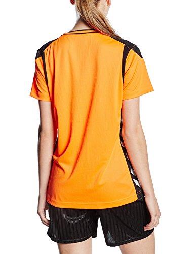 Hummel Sirius Maillot à manches courtes en jersey pour homme Orange - Shocking Orange/Black