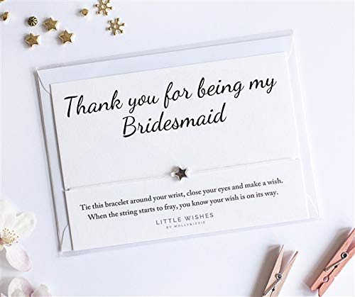 Pulsera de agradecimiento para ser mi dama de honor, con sobre, regalo de boda