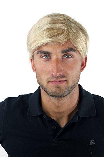 Herrenperücke Perücke Männer Toupet Kurz Jugendlich Modisch Blond-Mix GFW-994-24BT613 (Blonde Perücken Für Männer)