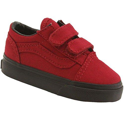 Vans Old School Valcanised, Unisex-Kinder Sneaker, Rot - Jester Red - Größe: 3.5 UK Child