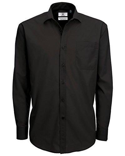 B&C - Camisa de manga larga Modelo Smart (Tallas grandes) para Hombre Caballero - Fiesta/Trabajo/Eventos importantes