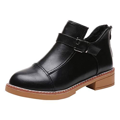 Zapatos Mujer,Las Mujeres de Moda Botas de Cabeza Redonda Gruesa Fondo Ankle Botas clásicas Botas