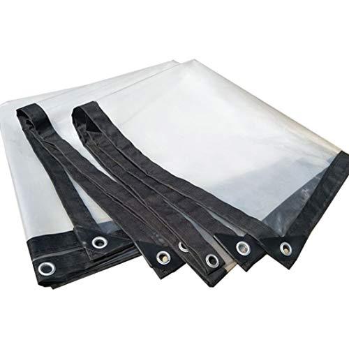 HSBAIS Abdeckplane Transparent mit öSen, 5 Mil Gewebeplane   Wasserdicht Reißfest für Holz für Gartenmöbel Grill Auto Pool,Transparent_2x4m/6x12ft -