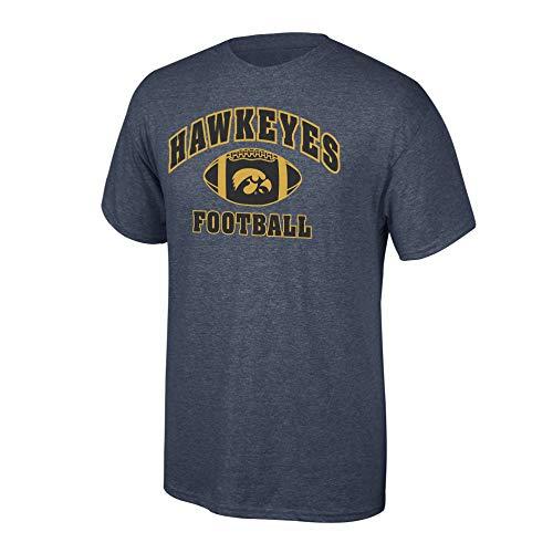 eLITe Fan Shop NCAA Men's Iowa Hawkeyes Football T-Shirt Dark Heather Iowa Hawkeyes Dark Heather Small