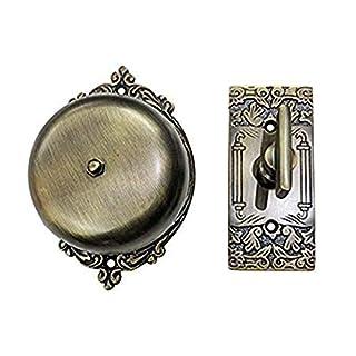 Adonai Hardware Bartholomew Brass Manual Old Fashion Door Bell or Twist Door Bell or Hand-Turn Door Bell (Antique Brass)