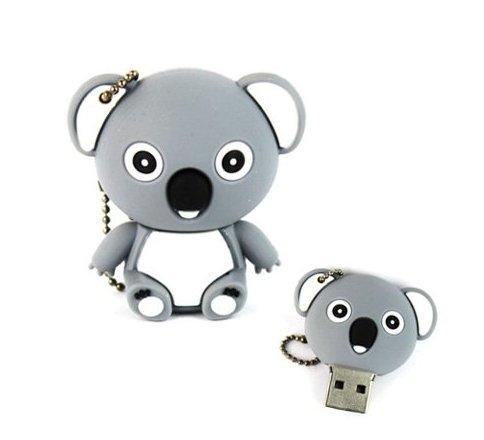 Yoousb - chiavetta usb da 8 gb, a forma di koala, colore: grigio