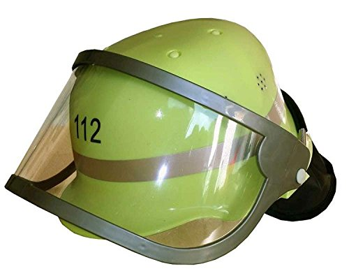 feuerwehrmann kostuem 116 Trullala Feuerwehrhelm aus Kunststoff mit klappbarem Visier, in grün