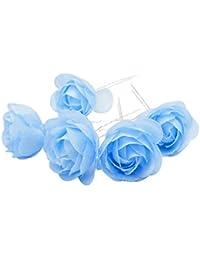 Horquilla de flor, de TOOKY, para bodas o fiestas, 12 unidades