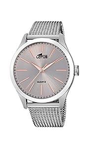 Lotus Watches Reloj Análogo clásico para Hombre de Cuarzo con Correa en Acero Inoxidable 18570/3
