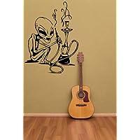 Alien Weed–Adesivo da parete, Black, Large: 60cm
