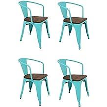 sillas madera vintage - 1 estrella y más - Amazon.es
