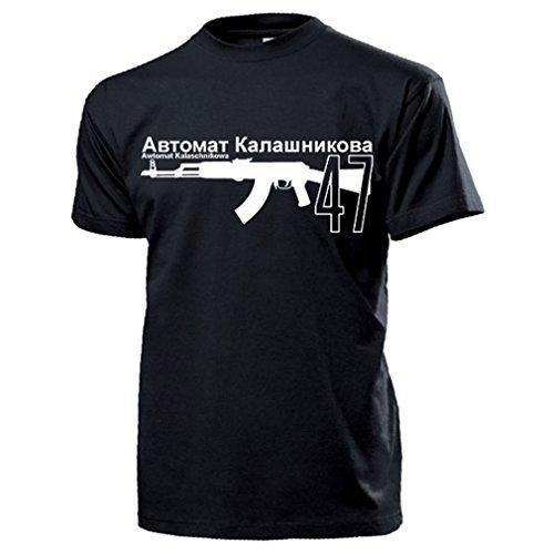Automat Kalaschnikowa 47 Sowjet Russisch Sturmgewehr Russland UDSSR Rote Armee Waffe Deko Kaschi AK Gewehr DDR Ostblock - T Shirt Herren L #16363