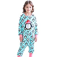 Coralup Toddler Kids Sleep Bag Cotton Summer Sleeping Bag with Feet Onesie Penguin Printed 2-4Years