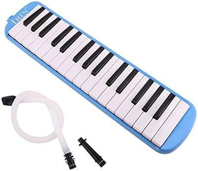IRIN 32 Melodica Clave Con La Caja Del Instrumento Musical Azul