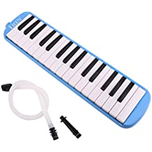 Generic IRIN 32 Key Melodica with Case Musical Instrument Blue